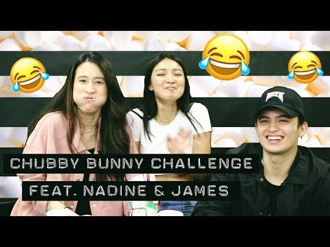 CHUBBY BUNNY CHALLENGE Feat. Nadine & James   Karla Aguas