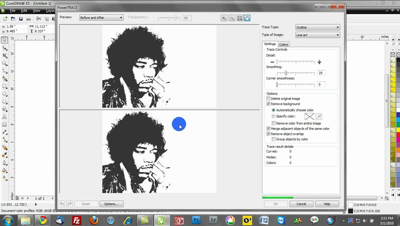 how to resize an image in corel draw