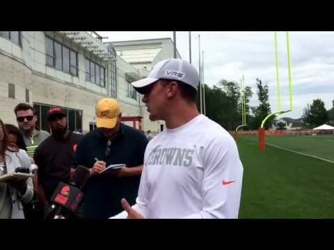 Browns quarterback Johnny Manziel speaks to media for 1st time since return from rehab (part 1)
