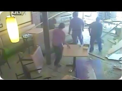 Pickup or Delivery? | Car Crashes Through Pizza Restaurant