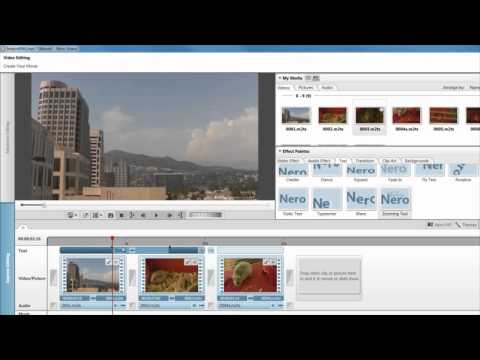 Express Editing: Storyboards. Simple Edits & Text Effects in Nero Video 11