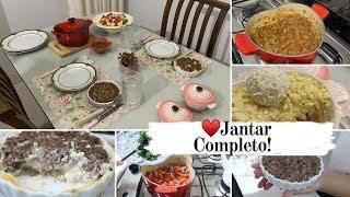 JANTAR COMPLETO DIA DOS NAMORADOS - ENTRADA - SALADA - PRATO PRINCIPAL - SOBREMESA!