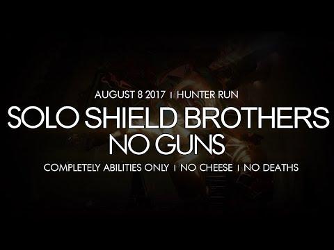 Destiny - Solo No Guns Shield Brothers Nightfall (Hunter + No Cheese) - August 8, 2017