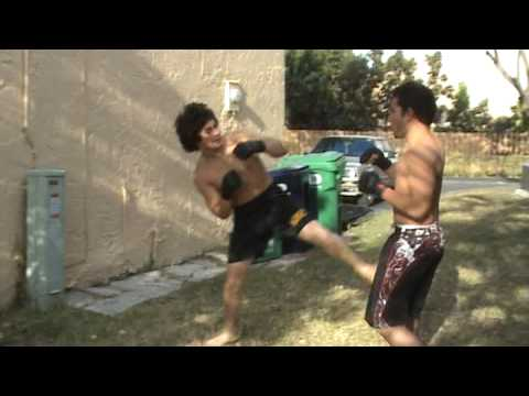 Backyard MMA Fight With a Friend Video