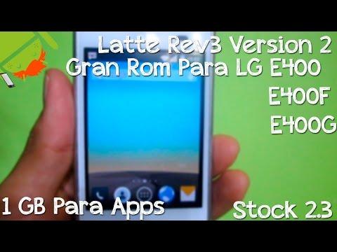 Gran Rom Para LG E400 E400F E400G   Instalacion & Revisado   1 GB Para Apps   Stock 2.3
