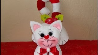 DIY - GATITO NAVIDEÑO / Christmas  kitty plush toy