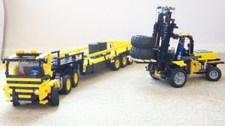 Lego IR RC Forklift and Truck with Trailer