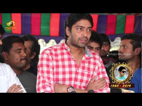 Uday Kiran was sensitive and people's view about his death is not true says Allari Naresh