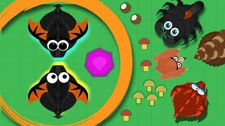 MOPE.IO / BLACK DRAGON EATS LAND MONSTER / NICE GAMEPLAY