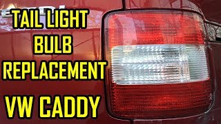 VW Caddy Tail Light Bulb Replacement / Rear Lamp Removal