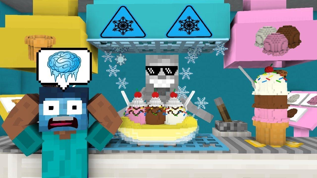 Monster School: WORK AT ICE CREAM PLACE! - Minecraft Animation