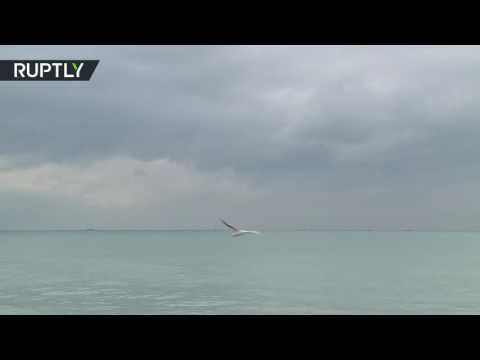 Russian Tu-154 plane crash: First VIDEO from rescue operation in Black Sea