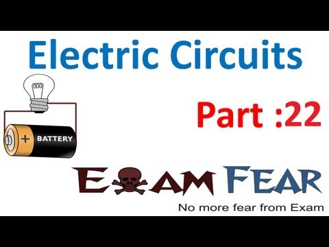 Physics Electric Circuits part 22 (How bulb glow) CBSE class 12
