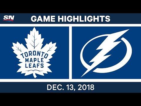 NHL Highlights  Maple Leafs vs. Lightning - Dec 13, 2018