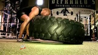 Triple H Training against Brock Lesner