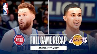 Full Game Recap: Pistons vs Lakers   Kyle Kuzma's Career Night