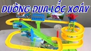 đồ chơi pin đường đua lốc xoáy 3 tầng dành cho trẻ em