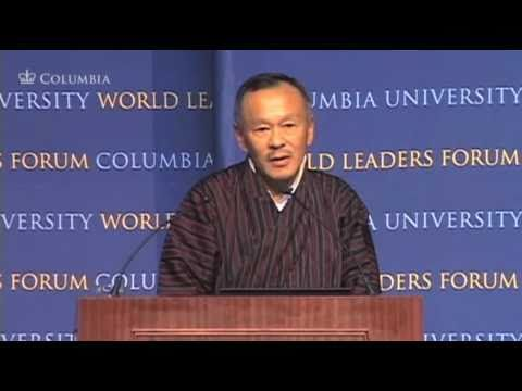 Prime Minister of the Kingdom of Bhutan, Jigmi Y. Thinley at World Leaders Forum