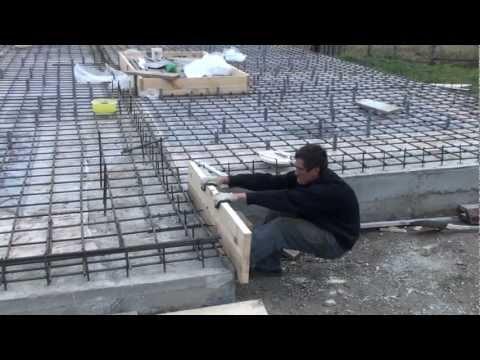 Строительство дома: Заливка фундамента ч.2