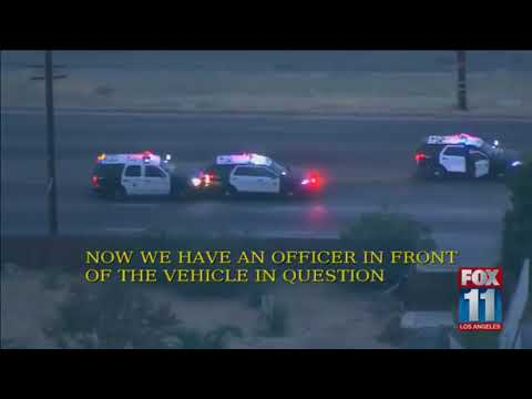 Los Angeles Police Chase Oct  31, 2017