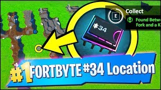 FORTBYTE 34 Location - FOUND BETWEEN A FORK AND KNIFE (Fortnite)