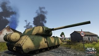 War Thunder: Tunesia MAUS gameplay Realistic Battle