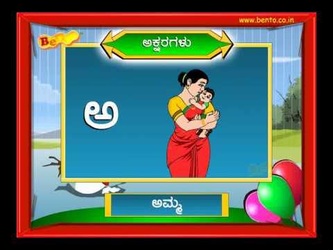Alphabet Charts For Preschool Alphabets in Kannada Preschool