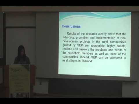 Sufficiency Economy Philosophy Process Implementation and Outcomes:Case of Naso Yasothon,Thailand