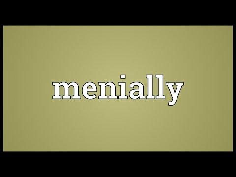 Header of menially