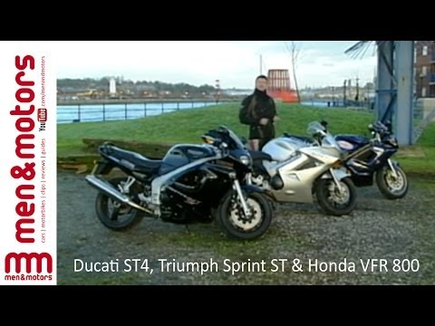 Sports Tourers Review: Ducati ST4. Triumph Sprint ST & Honda VFR 800