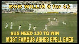 1981 Headingley Impossible win - Bob Willis 8/43 - Most famous Ashes spell ever!