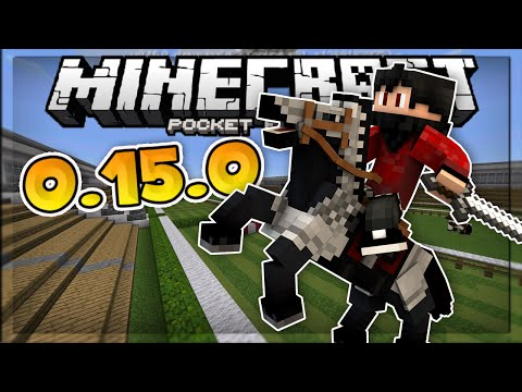 Minecraft PE 0.15.0 // HORSE RACING w/Friends in MCPE 0.15.0! - Minecraft PE (Pocket Edition)