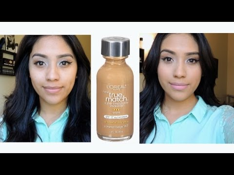 Review & Demo: Loreal True Match Foundation (W7)