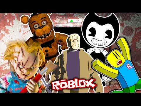 Роблокс ОЧЕНЬ СТРАШНЫЙ ЛИФТ мультик герой ROBLOX убегает от БЕНДИ КУКЛЫ ЧАКИ и Фредди