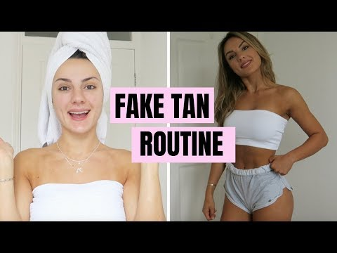 MY FAKE TAN ROUTINE   Literally The Best Tan Ever!