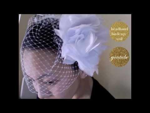 CHRISTINE How To Make A Single Comb Birdcage Wedding Veil