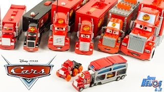 Disney Pixar Cars Mack Truck 9 Camions Collection Flash McQueen Toy Review Lightning McQueen