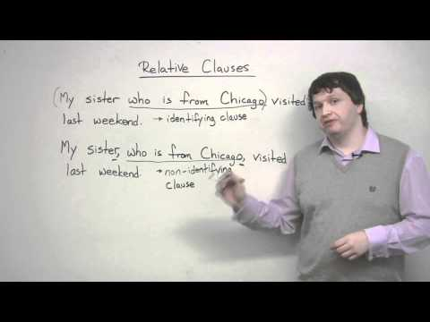 Writing – Relative Clauses overview