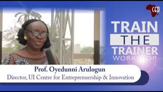 Prof Arulogun speaks on National Train -The Trainer Entrepreneurship Workshop