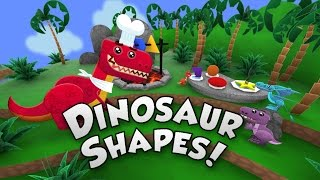 Learning Shapes - Dinosaur Shapes - Shapes with Baby T-Rex - Shapes Animation for Children