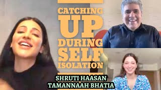 Shruti Haasan & Tamannaah Bhatia interview with Rajeev Masand | Cooking during lockdown