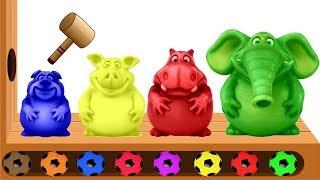 Cả Nhà Thương Nhau - Nhạc Thiếu Nhi Vui Nhộn - Hoạt Hình 2D Tìm Hiểu Màu Sắc Và Trứng Bất Ngờ
