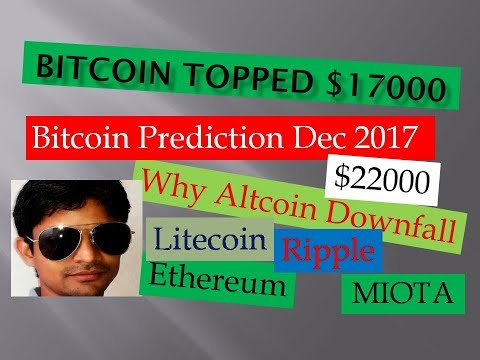 Bitcoin Price Prediction December 217 Hindi, Bitcoin Topped $1700, Analysis All Major Altcoins
