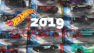 Unboxing Hot Wheels G Case Cars for 2019!!!