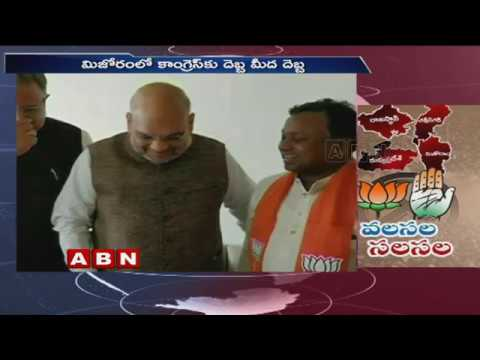 Poll situation in Madhya Pradesh, Rajasthan | Political leaders Migration to Congress | ABN Telugu