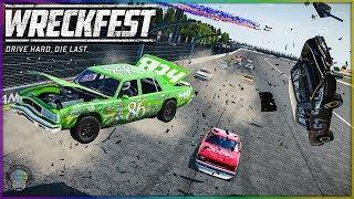 Chick Hicks Causing Carnage! | Wreckfest | NASCAR Legends Mod