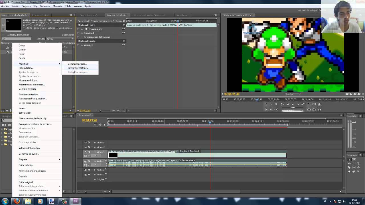adobe premiere how to make it 16 9