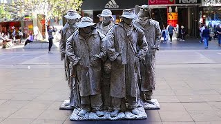 The Stone Stockmen - Iconic Living Statue Street Performer