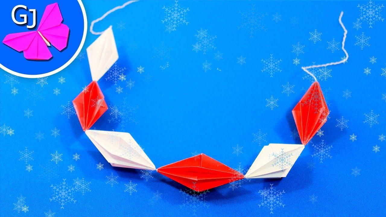 Оригами из бумаги украшения на новый год