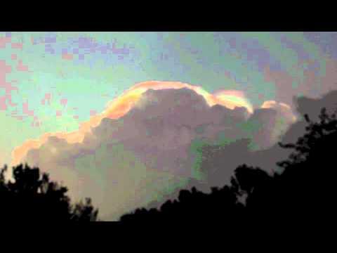 Iridescent Clouds Florida Pileus Iridescent Cloud in